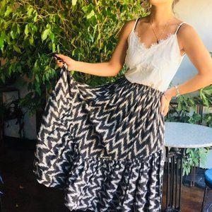 Vintage | Big Jaguar Long Hand Woven Skirt